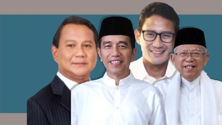 Quick Count LSI Denny JA 100%: Jokowi 55,71% Prabowo 44,29%
